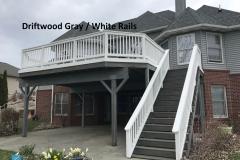 Driftwood Grey - White Rails
