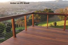 Amber on IPE Wood