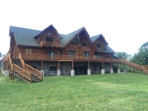 Stain Shop Log & Siding Natural log home